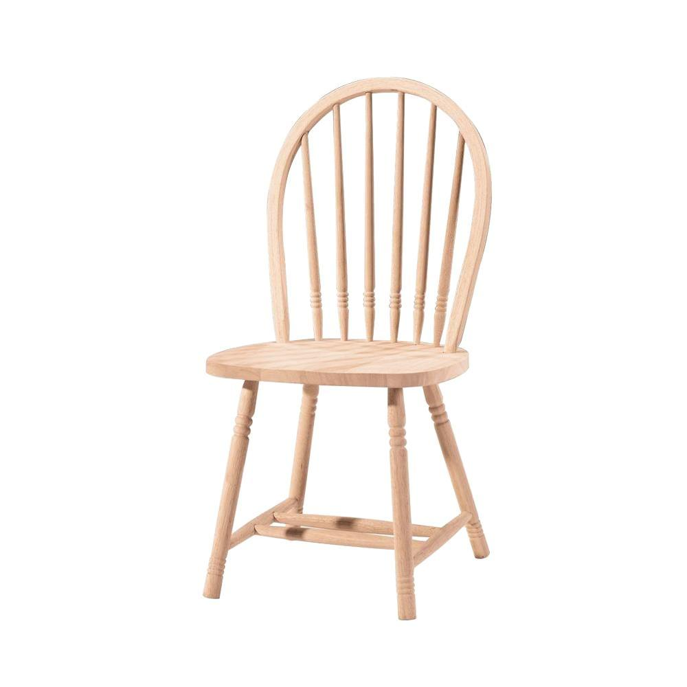 unfinished windsor chairs steel case chair international concepts wood spindle back dining chair-1c-114 - the home depot