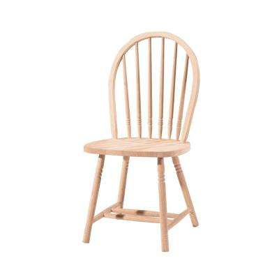 unfinished kitchen chairs restaurant setup cost wood dining room furniture spindle back windsor chair