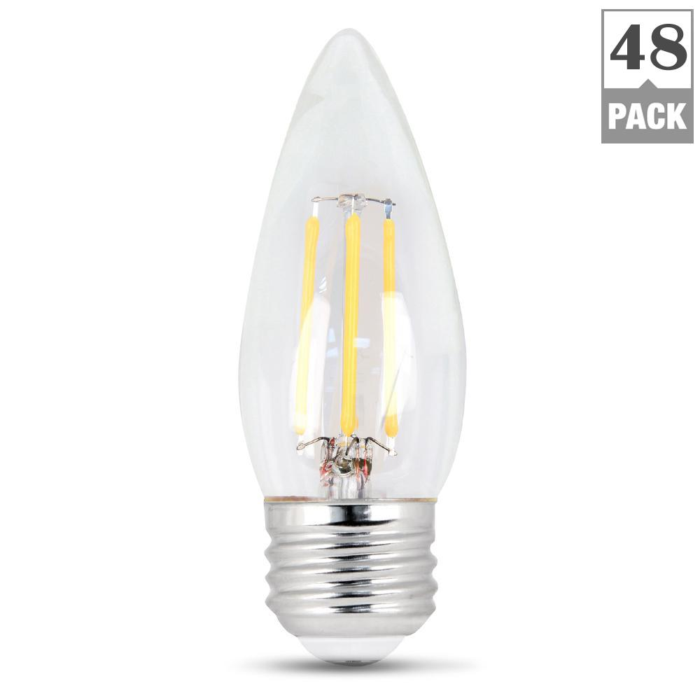 Feit Electric 40Watt Equivalent Soft White B10 Dimmable