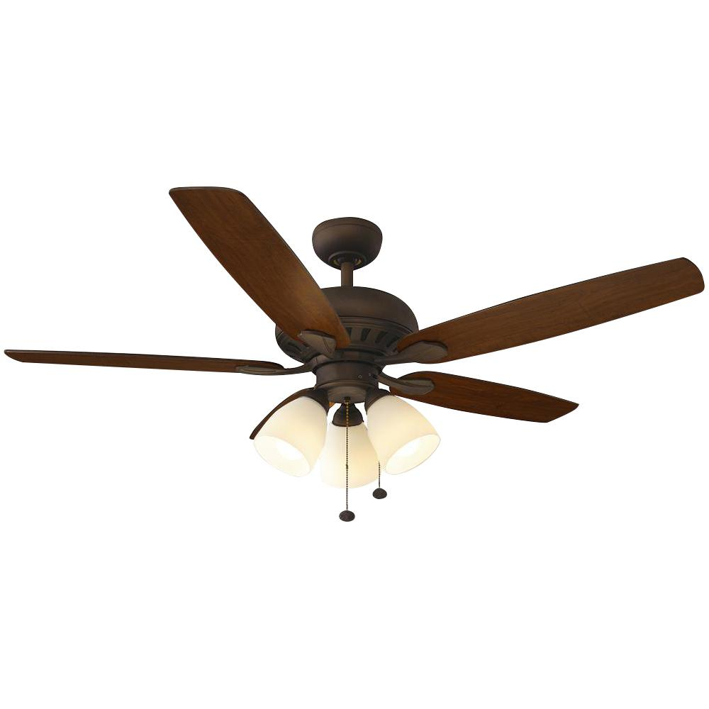 medium resolution of hampton bay rockport 52 in led oil rubbed bronze ceiling fan with light kit