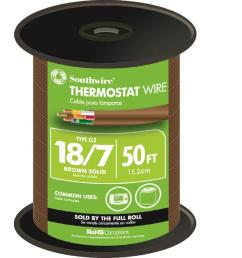 18 7 brown solid cu cl2 thermostat wire [ 1000 x 1000 Pixel ]