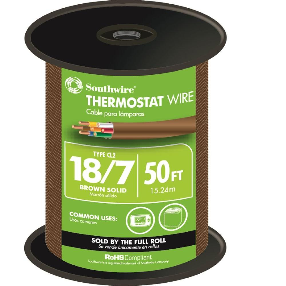 medium resolution of 18 7 brown solid cu cl2 thermostat wire