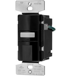motion activated vacancy sensor wall switch black [ 1000 x 1000 Pixel ]