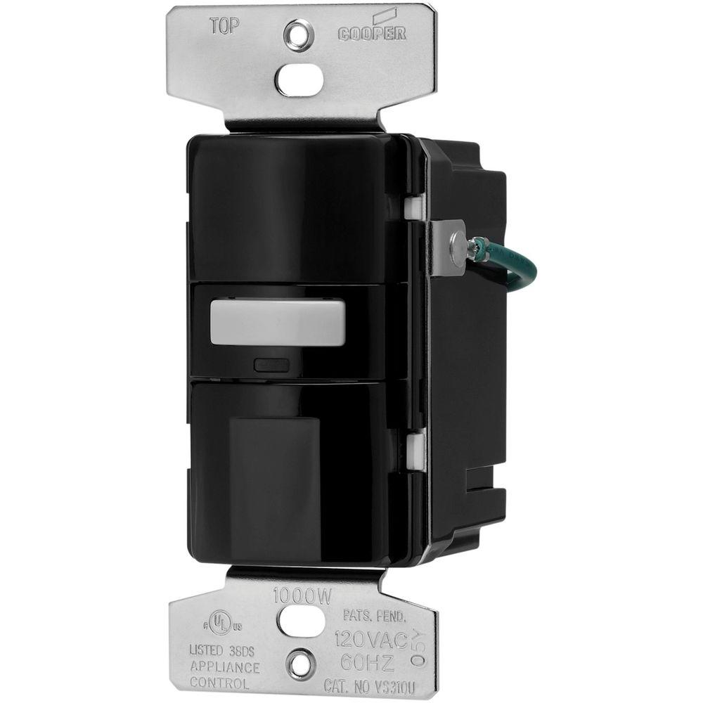 hight resolution of motion activated vacancy sensor wall switch black