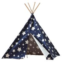 turtleplay Cotton Canvas Blue with White Stars Indoor ...