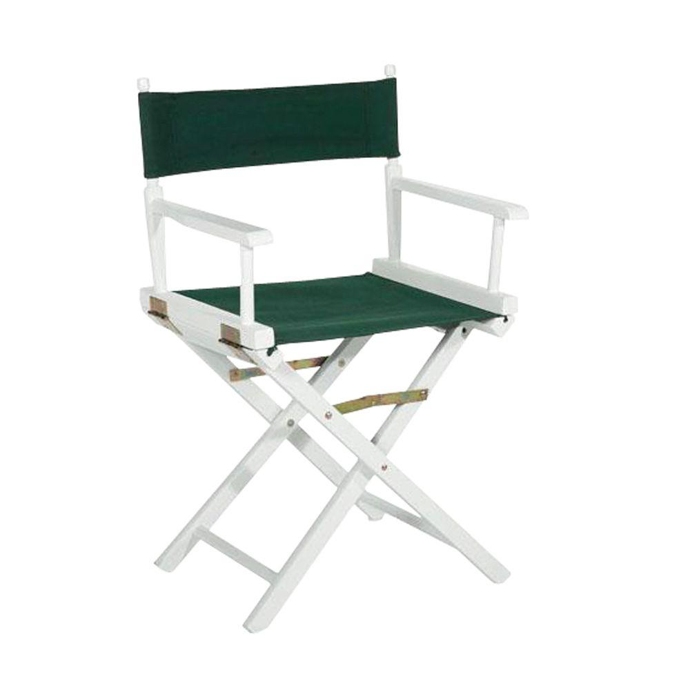 directors chair white wheelchair unicode 18 in director s solid wood frame 200 01 the home depot