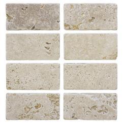 Travertine Kitchen Backsplash Modern Designs Tile Natural Stone The Home Depot Light 3 In X 6 Wall 8 Pack
