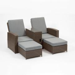 Tete A Chair Outdoor Navy Blue Rocking Cushion Set Cayo Coco Brown Plastic Lounge With Grey Cushions 2 Pack Gf07215usa The Home Depot