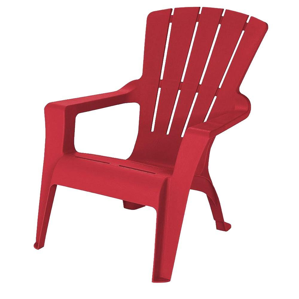 Red Patio Chairs Unbranded Adirondack Chili Patio Chair