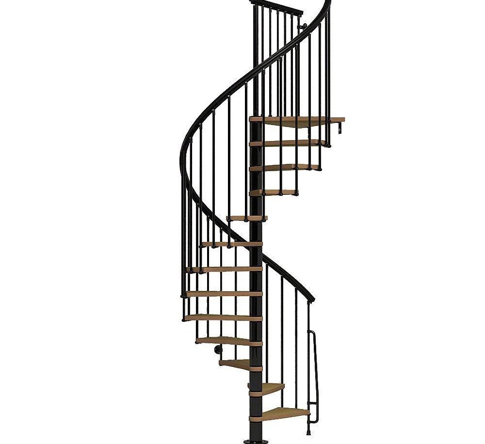 Arke Nice1 51 In Black Spiral Staircase Kit K50106 The Home Depot | Spiral Stairs For Small Spaces | Second Floor | Low Budget | Square | Low Cost Simple | Metal