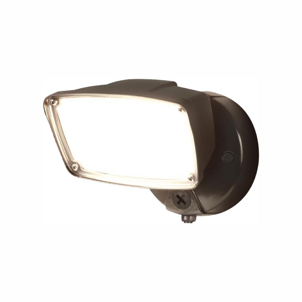 medium resolution of fsl single head bronze outdoor integrated dusk to dawn led flood light with selectable color temperature