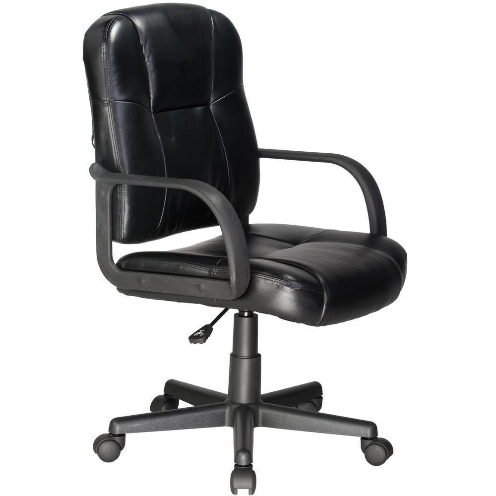 back massage chair retro wire chairs relaxzen black mid leather 60 6814 the home depot