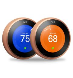 google nest learning thermostat 3rd gen in copper 2 pack  [ 1000 x 1000 Pixel ]