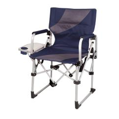 Home Depot Camping Chairs Swivel Dining Room Picnic Time Navy And Grey Meta Portable Folding All In One Patio Chair