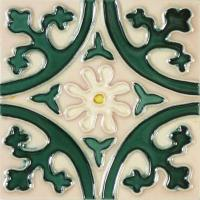 Solistone Hand-Painted Jardin Deco 6 in. x 6 in. x 6.35 mm ...