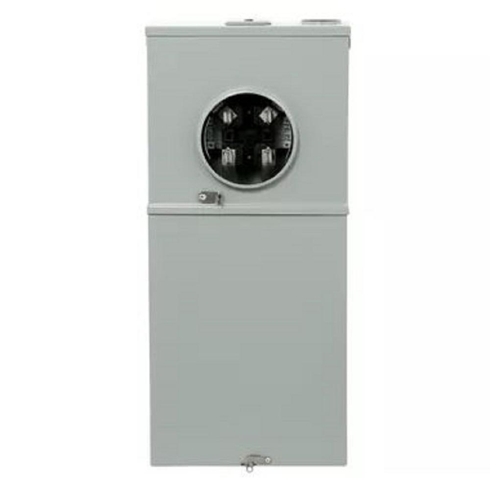 hight resolution of ge 200 amp 8 space 16 circuit outdoor combination main breaker ringless meter socket load center