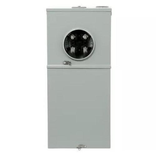 small resolution of ge 200 amp 8 space 16 circuit outdoor combination main breaker ringless meter socket load center