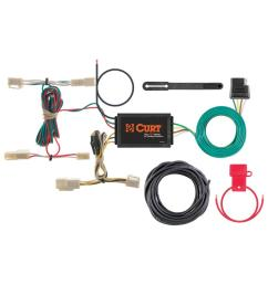 curt custom wiring harness 4 way flat output 55563 the home depotcustom wiring harness [ 1000 x 1000 Pixel ]