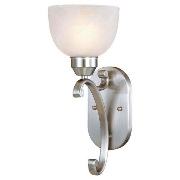 Minka Lavery Paradox 1-light Brushed Nickel Sconce-5420-84 - Home Depot