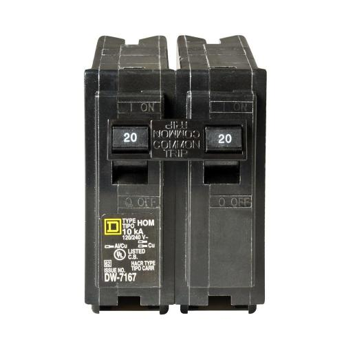 small resolution of square d homeline 25 amp 2 pole circuit breaker hom225cp the home 220 amp breaker fuse box with