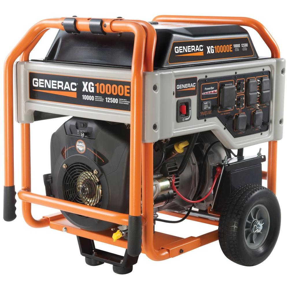 hight resolution of xg 10 000 watt gasoline powered electric start portable generator 5802 the home depot