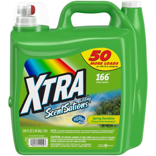 Xtra 250 Oz. Spring Sunshine 2x Liquid Laundry Detergent-41250 - Home Depot