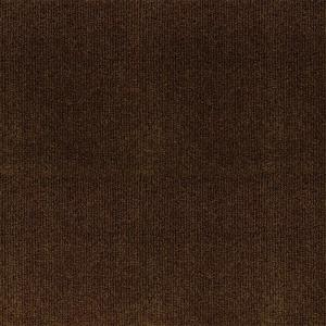 Trafficmaster Ribbed Brown Texture 18 In X 18 In Carpet