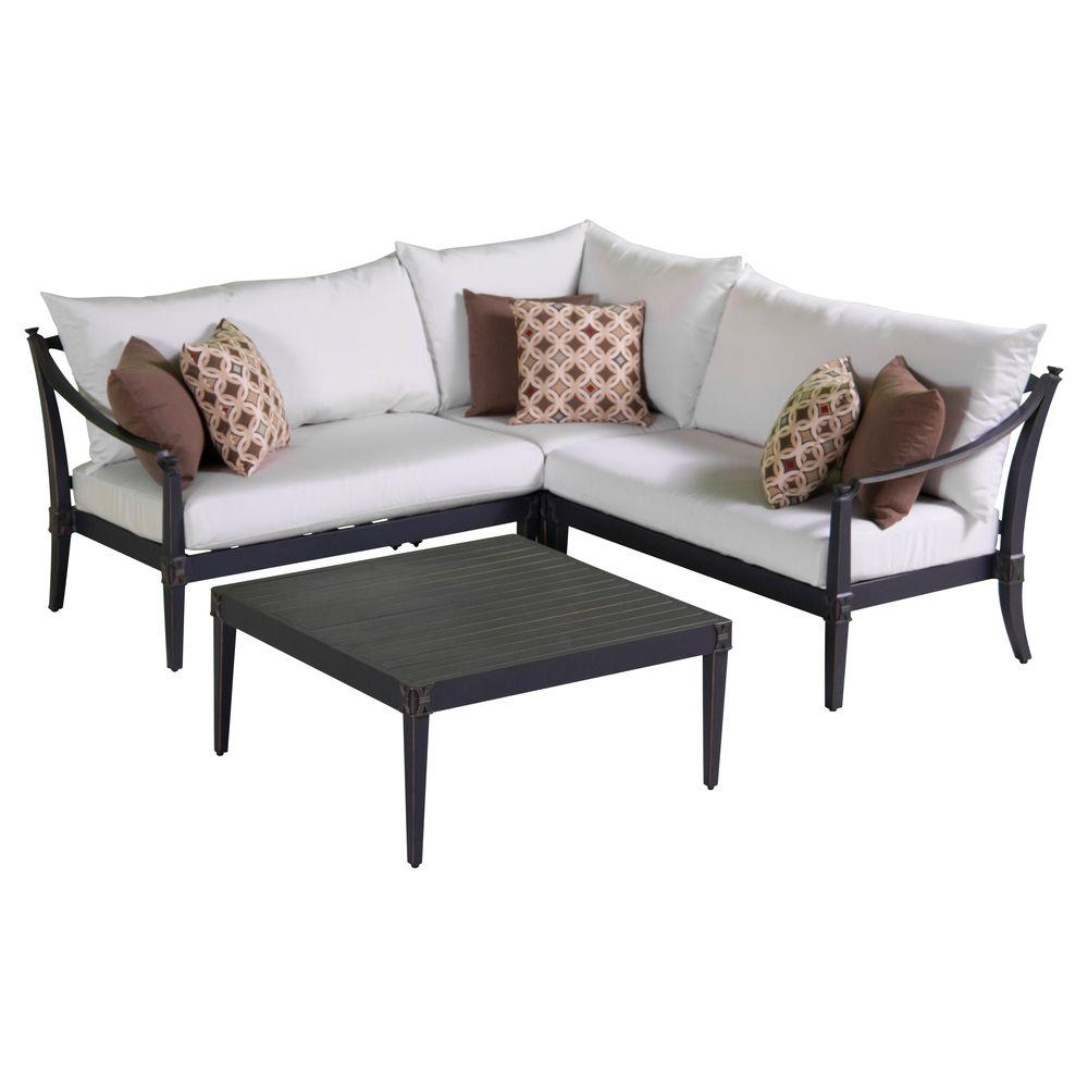 RST Brands Astoria 4 Piece Patio Corner Sectional And