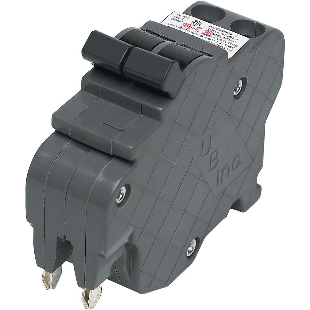 hight resolution of new ubif thin 15 amp 1 in 2 pole federal pacific stab lok