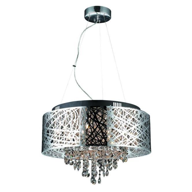 Decor Living Helix 9 Light Chrome Chandelier Shade 103974 15 The Home Depot