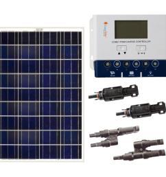grape solar 200 watt off grid solar panel kit [ 1000 x 1000 Pixel ]
