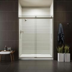 Home Depot Kitchen Faucets Delta Small Round Tables Kohler Levity 59 In. X 74 Frameless Sliding Shower ...
