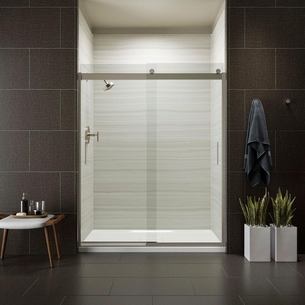 kohler kitchen faucets home depot aid fridge levity 59 in. x 74 frameless sliding shower ...