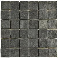 Merola Tile Crag Quad Black Quartzite 12 in. x 12 in. x 13 ...