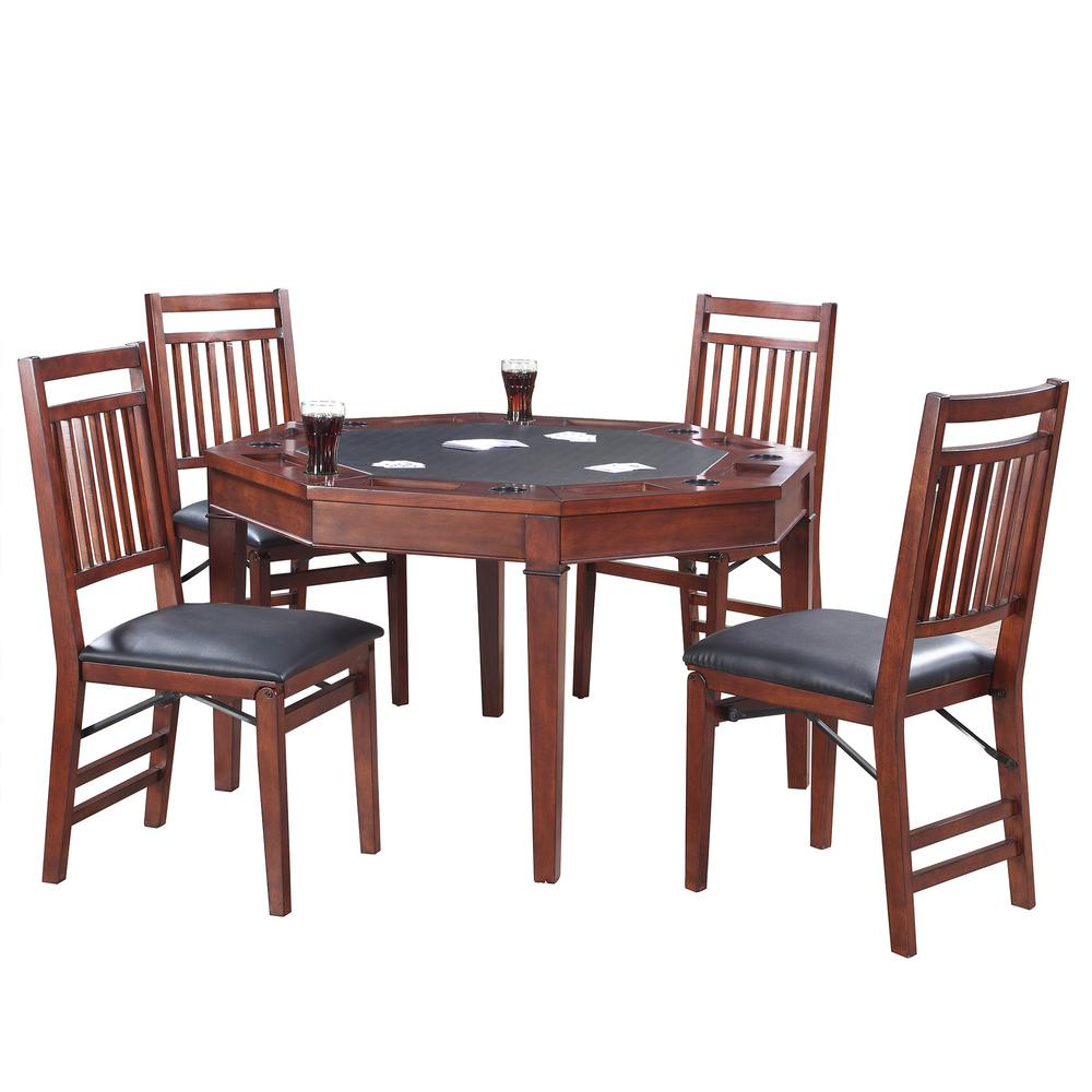 Hathaway Broadway 48 in. Folding Poker Table and Chairs