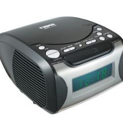naxa digital alarm clock radio and cd player [ 1000 x 1000 Pixel ]
