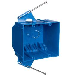 carlon 2 gang 32 cu in blue pvc new work electrical switch and [ 1000 x 1000 Pixel ]