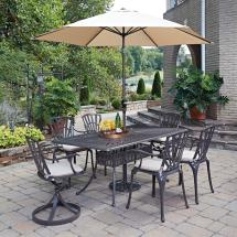 Home Styles Largo 7-piece Patio Dining Set With Umbrella