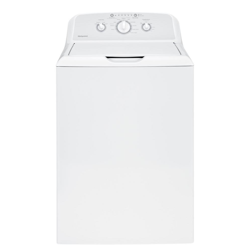hight resolution of hotpoint 3 8 cu ft white top load washing machine with stainless steel tub