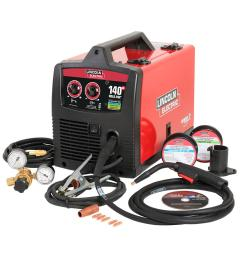 140 amp weld pak 140 hd mig wire feed welder with magnum 100l gun sample spools of mig wire and flux wire 115v [ 1000 x 1000 Pixel ]