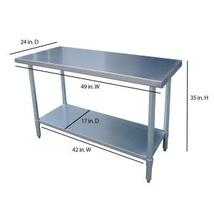 steel kitchen table cabinet only sportsman stainless utility sswtable the home internet 100670856 5