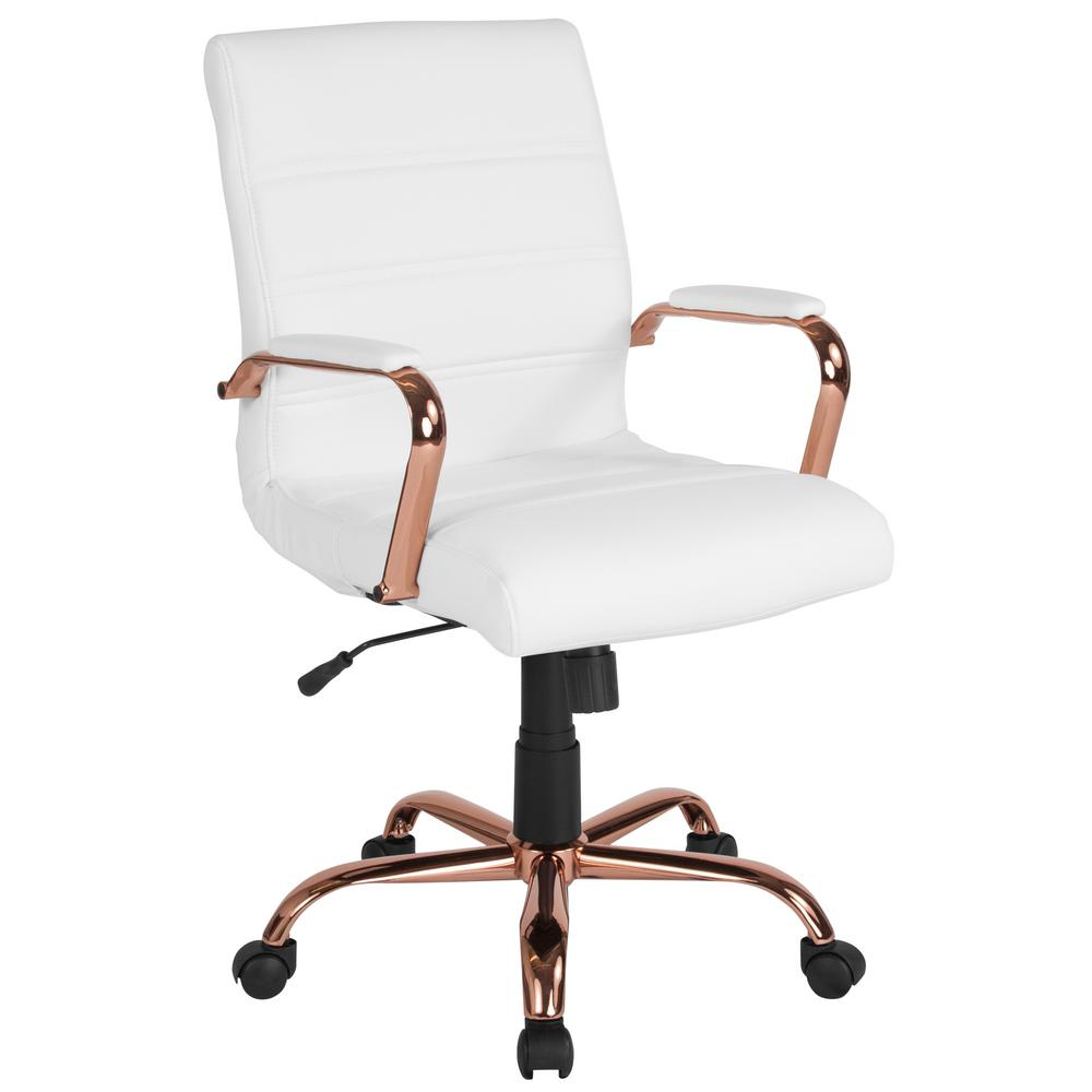 chair photo frame hd turquoise bean bag flash furniture white leather rose gold office desk cga