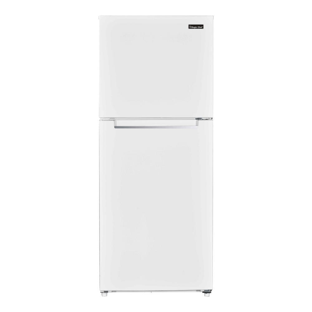 medium resolution of top freezer refrigerator in white