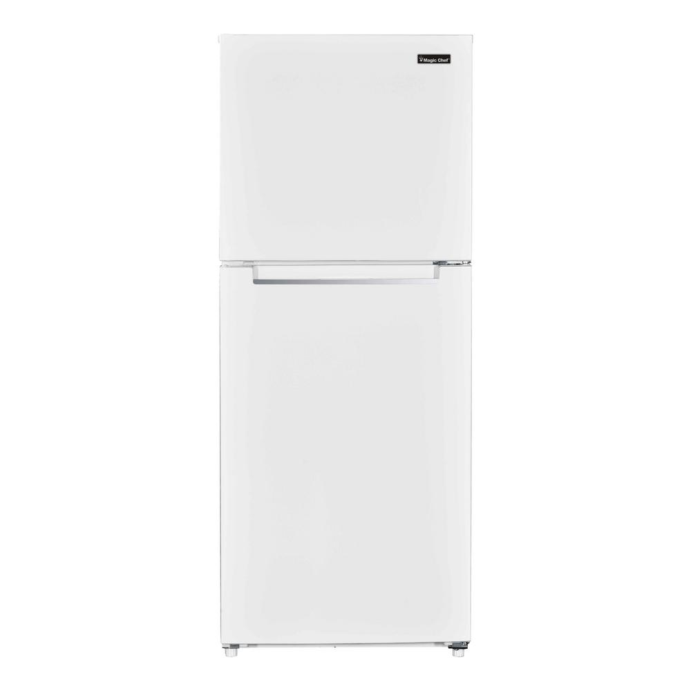 hight resolution of top freezer refrigerator in white