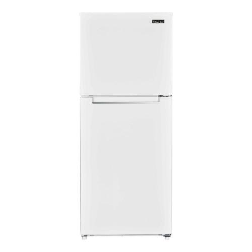 small resolution of top freezer refrigerator in white