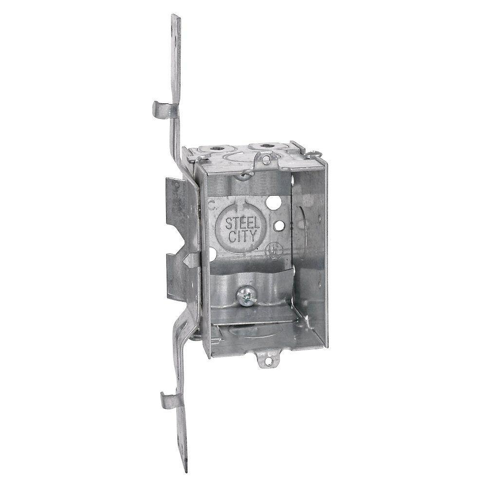 hight resolution of deep switch and outlet box with sv clamp case of 25 lxwsv 25r the home depot