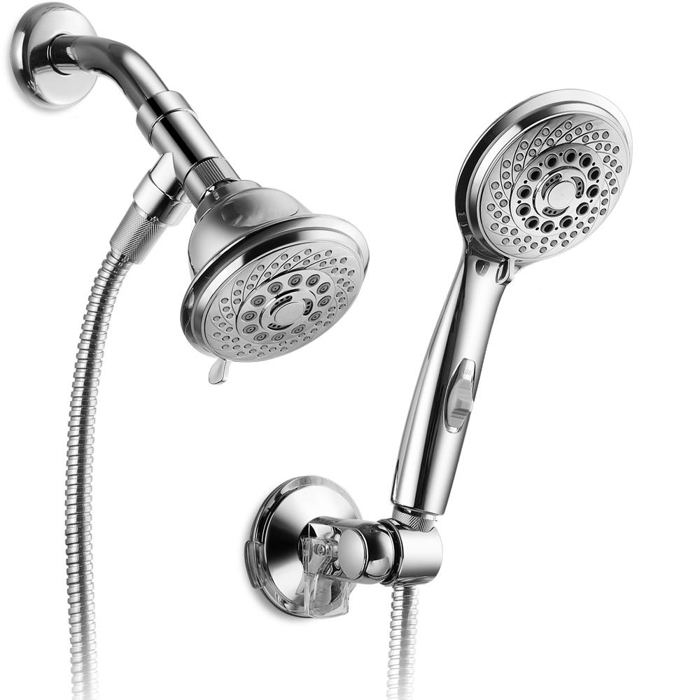 Hotel Spa 6-Spray Hand Shower and Shower Head Combo Kit
