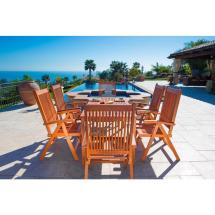 Vifah Balthazar Eucalyptus 7-piece Patio Dining Set With