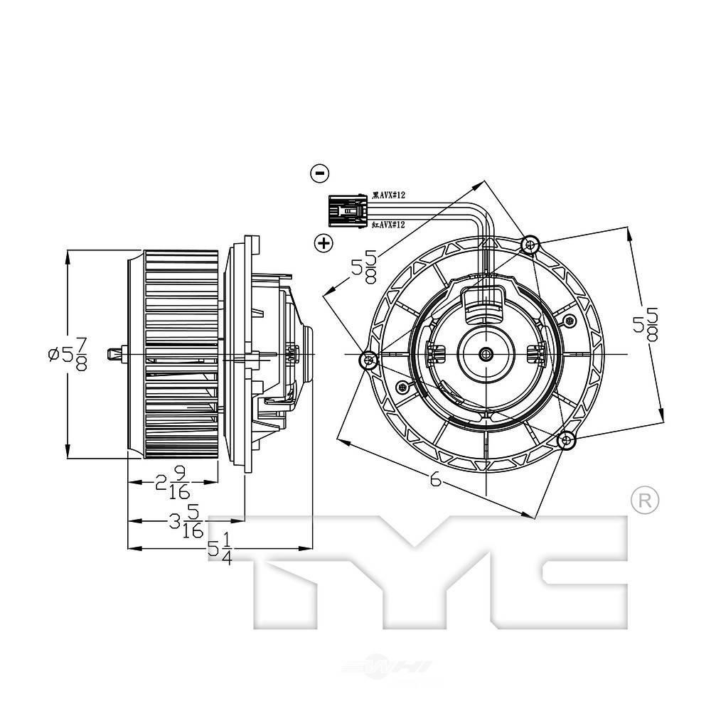 TYC HVAC Blower Motor 2014-2015 Chevrolet Camaro-700307