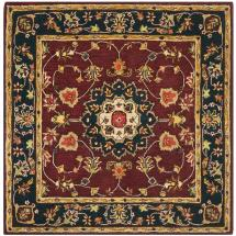 Safavieh Classic Burgundy Navy 6 Ft. X Square Area